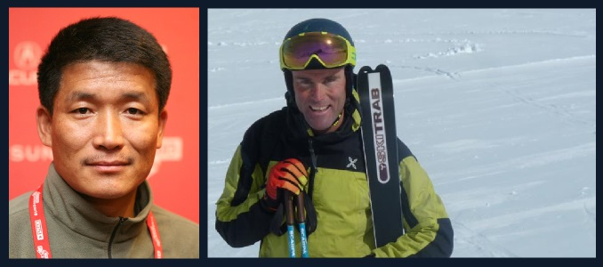 Pemba Sherpa e Marco Confortola