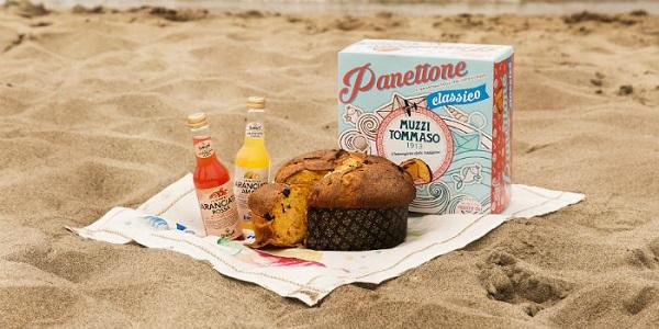 Panettone in spiaggia