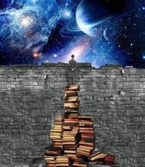 Una pila di libri ti permetterà di affacciarti sul Cielo.